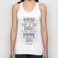 dumbledore Tank Tops featuring Albus Dumbledore Quote Inspirational by Go Art