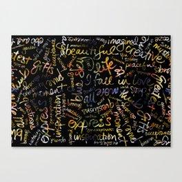 Marigold + Words Overlay Canvas Print