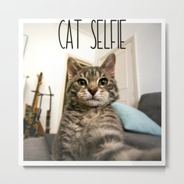 Cat Selfie Metal Print