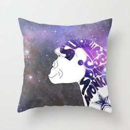 Super Cool Space Monkey Throw Pillow