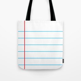 Notebook Paper Tote Bag