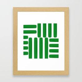 Abstract Green Pattern Framed Art Print
