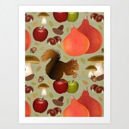 Hello Autumn! Art Print