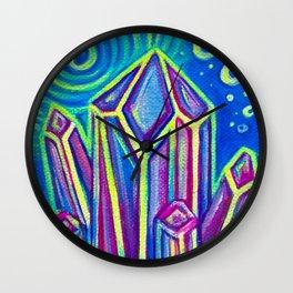 Incandescent Crystals Wall Clock
