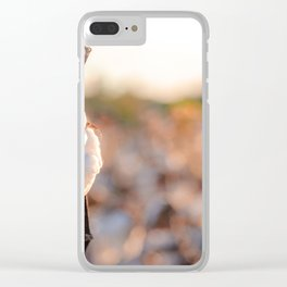Cotton Field 14 Clear iPhone Case