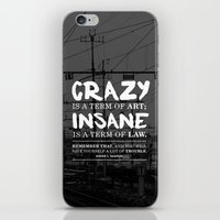 hunter s thompson iPhone & iPod Skins featuring Typographic Quote Design  [Hunter S. Thompson] by Kyle Berryman