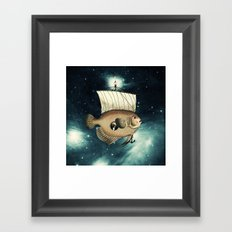 5 Weeks in A Yellow Fish Framed Art Print