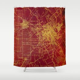 San Jose old map year 1899, united states vintage maps Shower Curtain
