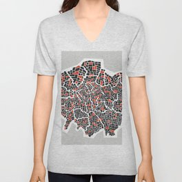 London Boroughs Abstract Map Unisex V-Neck