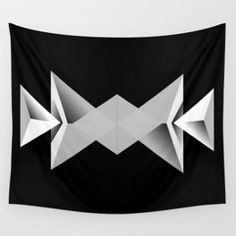 Rays - Black White Abstract Geometry Wall Tapestry