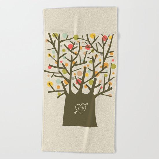 "The ""I love you"" tree Beach Towel"