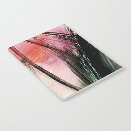 Train of thought: a vibrant abstract mixed media piece Notebook