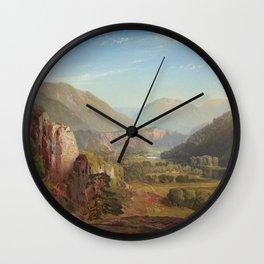 The Juniata Evening 1864 By Thomas Moran | Scenic National Park View Reproduction Wall Clock