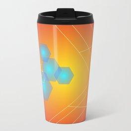 Hexagons background, hot gradients Travel Mug