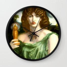 "Dante Gabriel Rossetti ""Mnemosyne (also Lamp of Memory)"" Wall Clock"