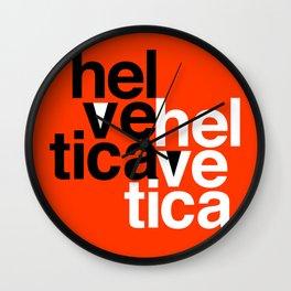 Helvetica Specimen Wall Clock