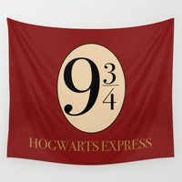 slytherin Wall Tapestries featuring HARRY POTTER by Sophie