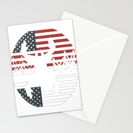 "Unique Shooting Tee For Hunters Saying ""American Flag"" T-shirt Design Hunting Rifle America Stationery Cards"