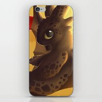 toothless iPhone & iPod Skins featuring Toothless! by NezuPanda