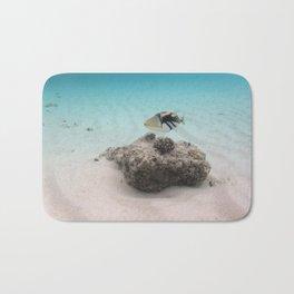 Tropical Maldives White Sand Lagoon Coral Fish Bath Mat