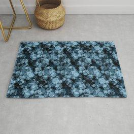 Blue hexagons. Kaleidoscope Rug