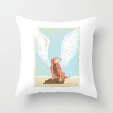 All Dogs Go to Heaven (Golden Retriever) Throw Pillow