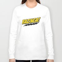 bazinga Long Sleeve T-shirts featuring Bazinga! by WaXaVeJu