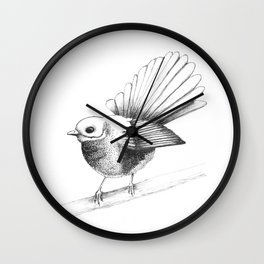 New Zealand Fantail Wall Clock