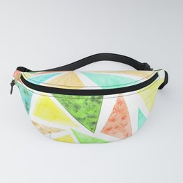 watercolor triangles Fanny Pack