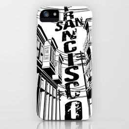 Cities in Black - San Francisco iPhone Case