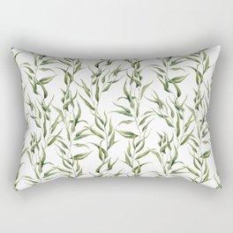 Watercolor green ornament with eucalyptus Rectangular Pillow