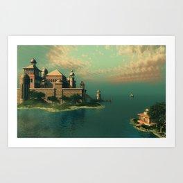 Mystic Fantasy Island Art Print