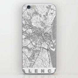 Valencia Map Line iPhone Skin