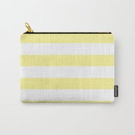 Simply Stripes in Pastel Yellow Carry-All Pouch