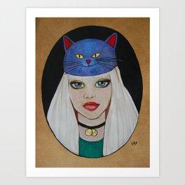 Miaw Girl Art Print
