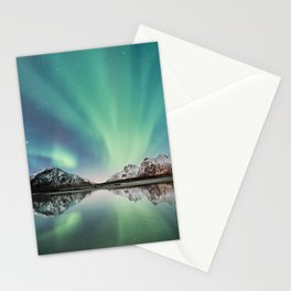 Northern Lights & Mountains Stationery Cards