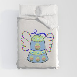 Winged Bell and  Egg Duvet Cover