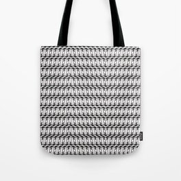 Guitars (Tiny Repeating Pattern on White) Tote Bag