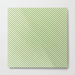 Greenery Stripe Metal Print