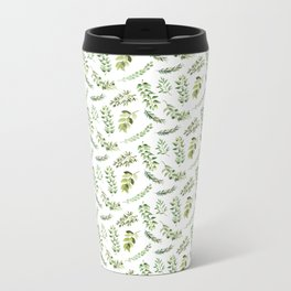Forest in the Fall Pattern Metal Travel Mug