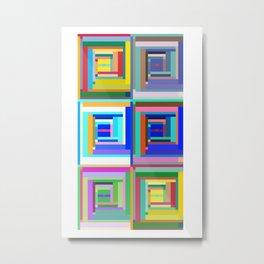 Six Sets Metal Print