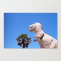 dinosaur Canvas Prints featuring Dinosaur!!! by David Ray