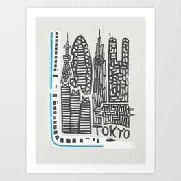 Tokyo Cityscape Art Print