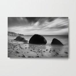 Hidden Bowling Ball Beach Northern California Metal Print