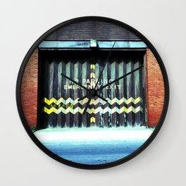 Emergency Exit Wall Clock