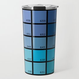 Shades of Blue Pantone Travel Mug
