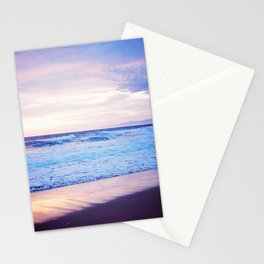 Purple Sunset over Hermosa Beach, Los Angeles  Stationery Cards