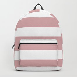 Pale chestnut - solid color - white stripes pattern Backpack