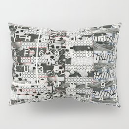 Crossing the Threshold of Sticky Potential (P/D3 Glitch Collage Studies) Pillow Sham