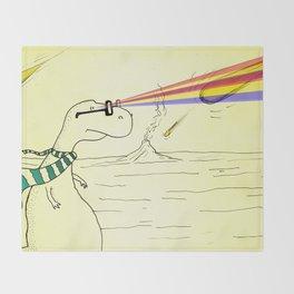 Hipster Laser Dinosaur Throw Blanket